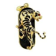 Оригинальная подарочная флешка Present ANIMAL84 128GB (золотой леопард со стразами, без блистера)