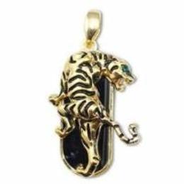 Оригинальная подарочная флешка Present ANIMAL84 04GB (золотой леопард со стразами)