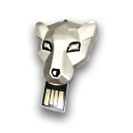 Оригинальная подарочная флешка Present ANIMAL87 128GB Silver (голова тигра)