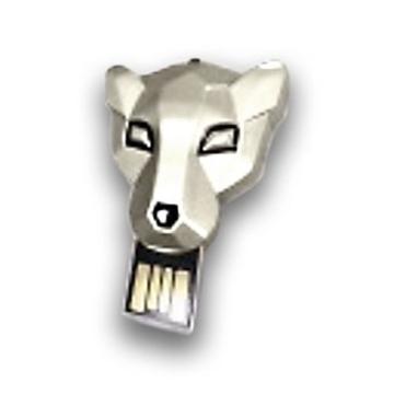 Оригинальная подарочная флешка Present ANIMAL87 16GB Silver (голова тигра)