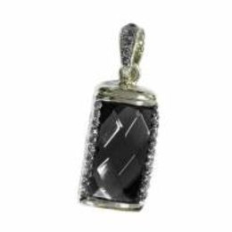 Оригинальная подарочная флешка Present ART31 32GB Black (большой прямоугольный камень-кристалл)