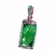Оригинальная подарочная флешка Present ART31 04GB Green (большой прямоугольный камень-кристалл)
