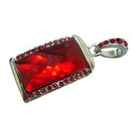 Оригинальная подарочная флешка Present ART31 04GB Red (большой прямоугольный камень-кристалл)
