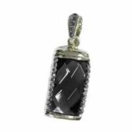 Оригинальная подарочная флешка Present ART31 64GB Black (большой прямоугольный камень-кристалл)