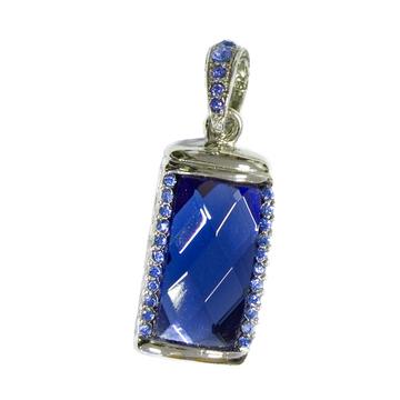 Оригинальная подарочная флешка Present ART31 64GB Blue (большой прямоугольный камень-кристалл)