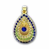 Оригинальная подарочная флешка Present ART87 04GB Blue (подвеска с кристаллами)