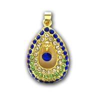 Оригинальная подарочная флешка Present ART87 08GB Blue (подвеска с кристаллами)