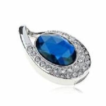 Оригинальная подарочная флешка Present ART89 04GB Blue (подвеска с кристаллом)
