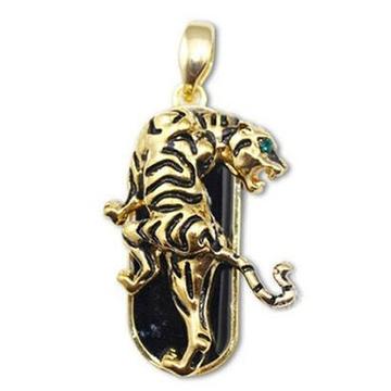 Оригинальная подарочная флешка Present ART92 08GB (золотой леопард со стразами, без блистера)