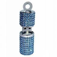 Оригинальная подарочная флешка Present ART93 128GB Blue (помада для губ, со стразами)