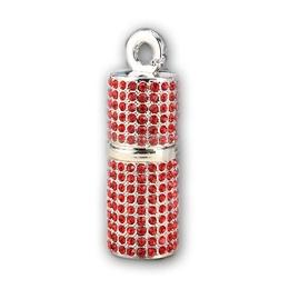Оригинальная подарочная флешка Present ART93 16GB Red (помада для губ, со стразами, без блистера)