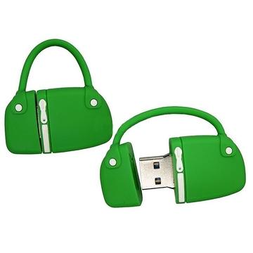Оригинальная подарочная флешка Present BAG07 32GB Green (сумка с молнией, без блистера)