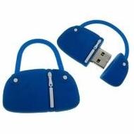 Оригинальная подарочная флешка Present BAG07 04GB Blue (сумка с молнией, без блистера)