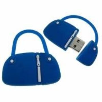 Оригинальная подарочная флешка Present BAG07 04GB Blue (сумка с молнией)
