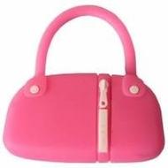 Оригинальная подарочная флешка Present BAG07 04GB Pink (сумка с молнией)