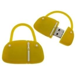 Оригинальная подарочная флешка Present BAG07 08GB Yellow (сумка с молнией, без блистера)