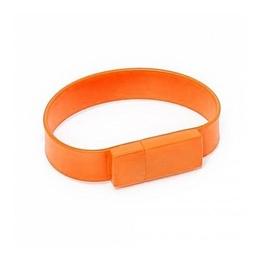 Оригинальная подарочная флешка Present BRT02 32GB Orange (флешка-браслет резиновый цветной, узкий, одноцветный)