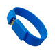 Оригинальная подарочная флешка Present BRT02 04GB Blue (флешка-браслет резиновый цветной, узкий, одноцветный)
