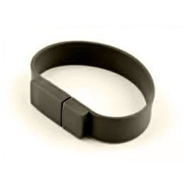 Оригинальная подарочная флешка Present BRT02 8GB Black (флешка-браслет резиновый цветной, узкий, одноцветный)