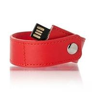 """Оригинальная подарочная флешка Present BRT04 64GB Red (браслет """"под кожу"""")"""