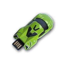 Оригинальная подарочная флешка Present CAR17 64GB Green (Спортивный автомобиль)