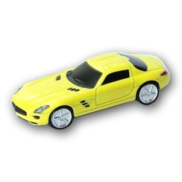 Оригинальная подарочная флешка Present CAR18 32GB Yellow (Спортивный автомобиль, без блистера)