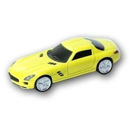 Оригинальная подарочная флешка Present CAR18 64GB Yellow (Спортивный автомобиль)