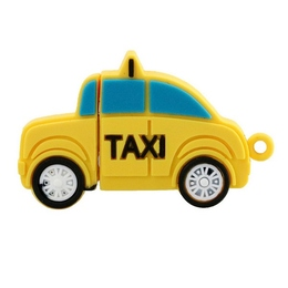 Оригинальная подарочная флешка Present CAR25 04GB Yellow (такси)