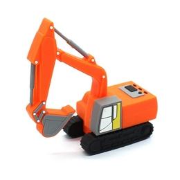 Оригинальная подарочная флешка Present CAR31 128GB Orange (экскаватор)