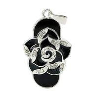 Оригинальная подарочная флешка Present FLW01 128GB Black (черная роза)