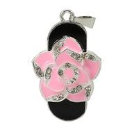 Оригинальная подарочная флешка Present FLW01 128GB Pink (розовая роза)