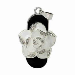 Оригинальная подарочная флешка Present FLW01 128GB White (белая роза)