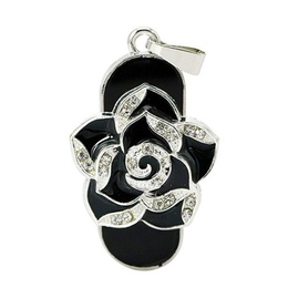 Оригинальная подарочная флешка Present FLW01 16GB Black (черная роза)