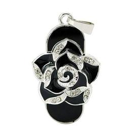 Оригинальная подарочная флешка Present FLW01 32GB Black (черная роза)