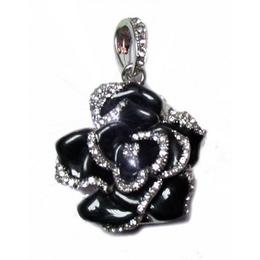 Оригинальная подарочная флешка Present FLW05 32GB Black (разноцветные розы без стебля и камнями на лепестках)