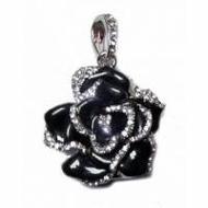 Оригинальная подарочная флешка Present FLW05 04GB Black (разноцветные розы без стебля и камнями на лепестках)