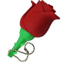 Оригинальная подарочная флешка Present FLW17 16GB Red (красная роза на стебле)