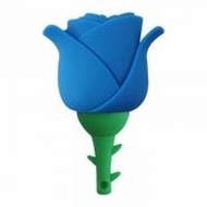 Оригинальная подарочная флешка Present FLW17 04GB Blue (красная роза на стебле)