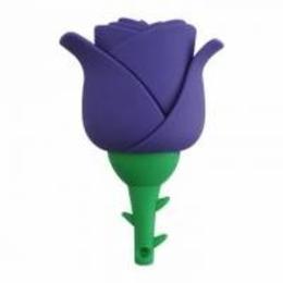 Оригинальная подарочная флешка Present FLW17 04GB Violet (фиолетовая роза на стебле)