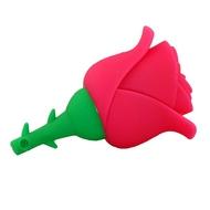 Оригинальная подарочная флешка Present FLW17 64GB Pink (розовая роза на стебле)