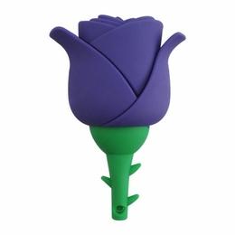Оригинальная подарочная флешка Present FLW17 08GB Violet (фиолетовая роза на стебле)