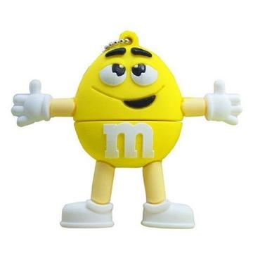 Оригинальная подарочная флешка Present FOOD01 64GB Yellow (фигурка m&m)