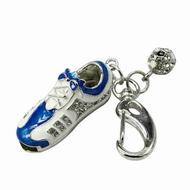 Оригинальная подарочная флешка Present FOOT05 128GB Blue (флешка кроссовок - адидас, бело-голубой)