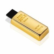 Оригинальная подарочная флешка Present GLD04 04GB (слиток золота, мини)