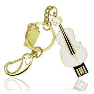 Оригинальная подарочная флешка Present GTR03 04GB White (флешка-скрипка белая)