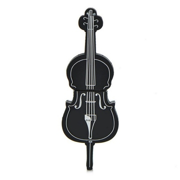 Оригинальная подарочная флешка Present GTR09 16GB Black (флешка-виолончель черная)