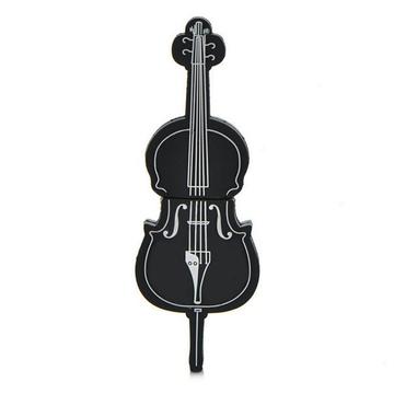 Оригинальная подарочная флешка Present GTR09 32GB Black (флешка-виолончель черная)