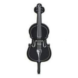 Оригинальная подарочная флешка Present GTR09 04GB Black (флешка-виолончель черная)