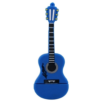 Оригинальная подарочная флешка Present GTR10 16GB Blue (флешка-гитара синяя, без блистера)