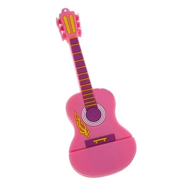 Оригинальная подарочная флешка Present GTR10 32GB Pink (флешка-гитара розовая)